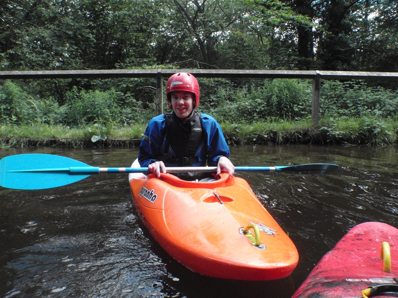 Kayak session on Llangollen canal